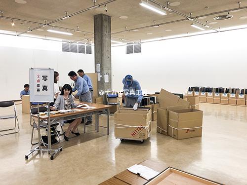 第70回岡山県美術展覧会 搬入