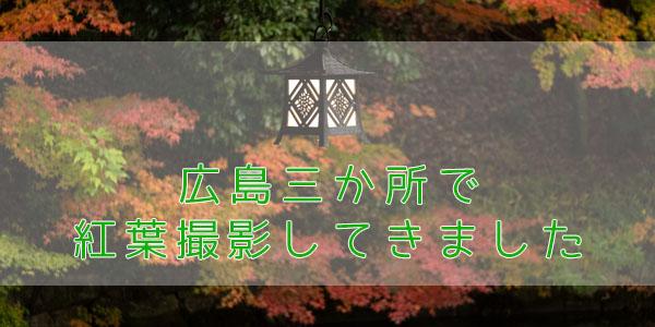 広島紅葉撮影旅行